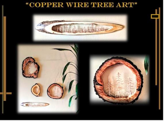 wire tree, Rustic,lodge, cabin, decor. - tree art, sculpture,