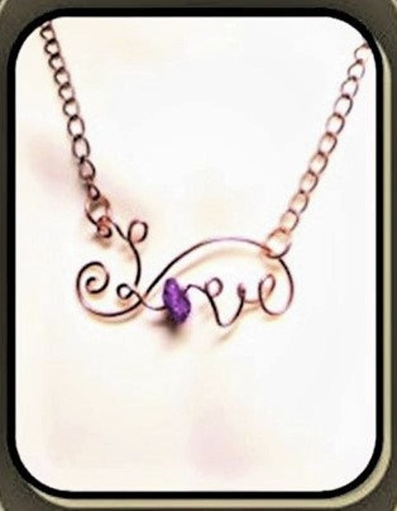 Mothers day gift, mother gift ,girlfriend gift, - love - Birthstone jewelry, , amethyst jewelry, wife gift, mother gift,