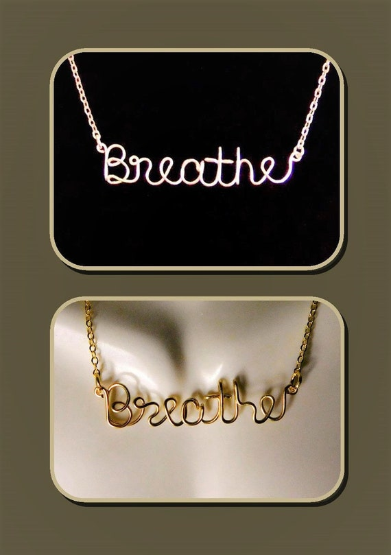 Breathe necklace - Heartbeat necklace - ekg - nurse jewelry -push gift - I love you morey - Name Jewelry,Believe,mother daughter jewelry