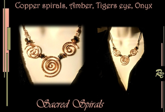 healing jewelry, Sacred spirals,Wife gift, High Fashion jewelry, gift, ,women,Art , Jewelry, Mother, Daughter, STATEMENT, necklace