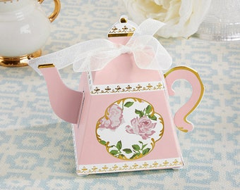 ba5c149ff3bf 24 Tea Time Whimsy Teapot Favor Boxes bridal Shower Tea Party Favors Lady s  Nightout Party Pink or Blue