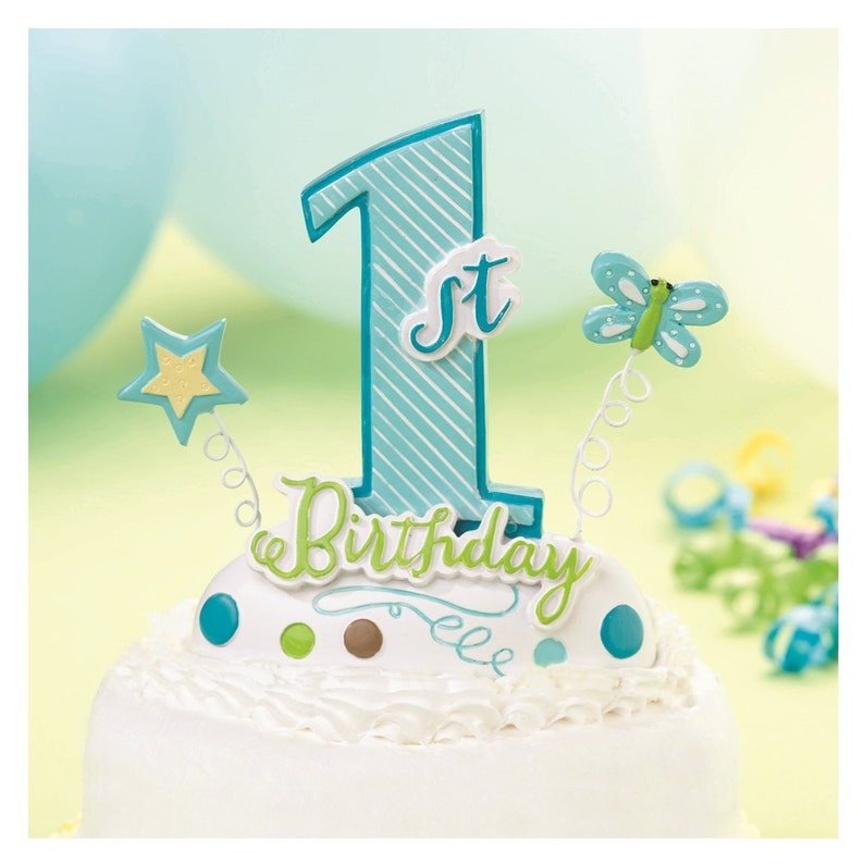 Baby Boy First Birthday Cake Toppers 1st Topper