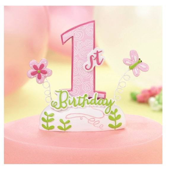 Enjoyable Baby Girl First Birthday Cake Toppers 1St Birthday Cake Topper Etsy Funny Birthday Cards Online Sheoxdamsfinfo