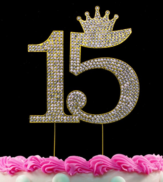 Fine 15Th Birthday Cake Toppers Quinceanera Cake Topper Princess Etsy Personalised Birthday Cards Paralily Jamesorg