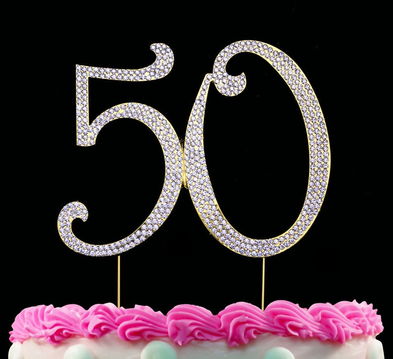50th Birthday Cake Topper 50 Bling Anniversary