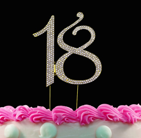 Wondrous 18Th Birthday Cake Toppers Bling Crystal Cake Topper 18 Silver Etsy Personalised Birthday Cards Xaembasilily Jamesorg