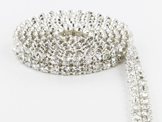 Real Crystal Diamante banding ribbon for wedding /& celebration cakes  1 yard//36/""