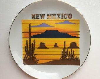Vintage New Mexico Decorative Souvenir Plate