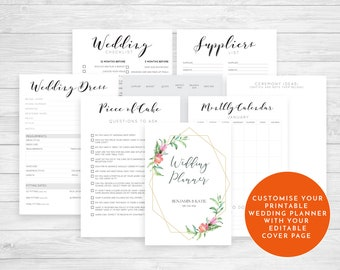 wedding binder cover page
