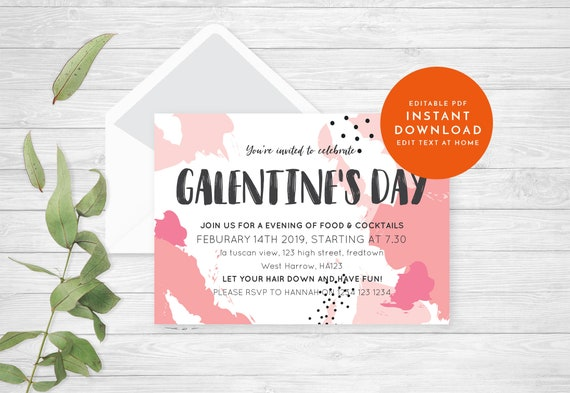 Galentine S Day Party Invitation Valentines Day Party Etsy