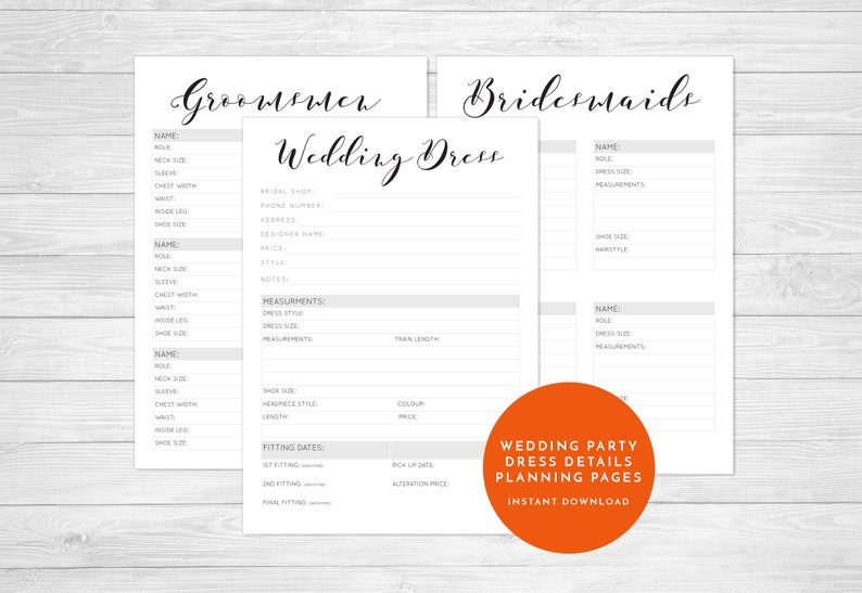 Simplified Wedding Planner wedding planner book wedding planning planner pages printable wedding pages simple to print easy to use