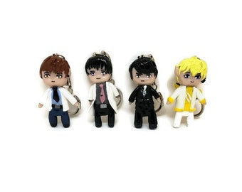 Mr Love Queen's Choice, Mr Love, Love and Producer, Polymer Clay Keychain, Chibi Keychain