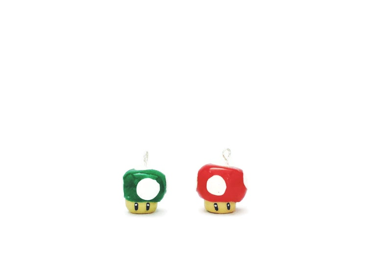 Mario Charm Power Up Video Game Charm Star Charm Charms for Necklace Mario Party Mushroom Charm Super Mario