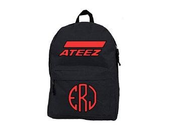 Ateez, Ateez Kpop, Kpop Bag, Ateez Atiny, School Bag, School Backpack, Kpop School, Canvas Backpack, Student Backpack, Back to School