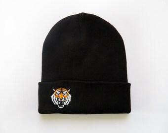 Cap Beanie Black Tiger Herr Fuchs Patch