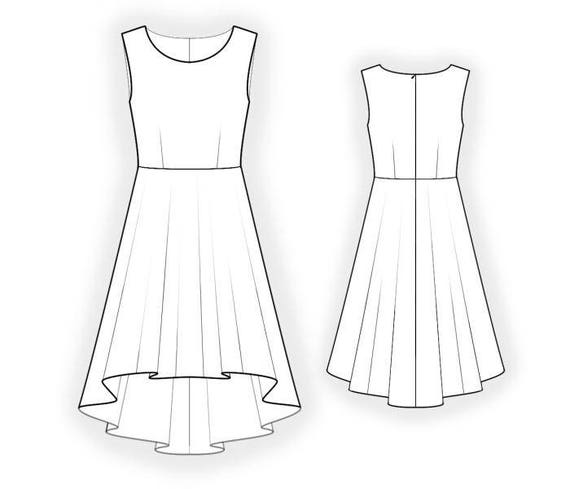L4411 Kleid PDF Muster Nähmuster PDF Maßgeschneiderte | Etsy