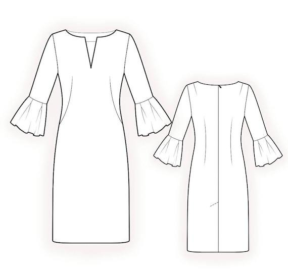 L4213 Kleid PDF Muster Nähmuster PDF Maßgeschneiderte | Etsy