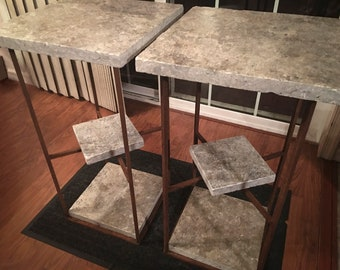 Rusted Twin Tables
