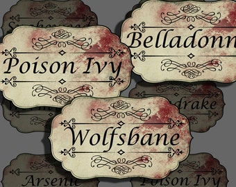 halloween potion labels apothecary labels for jars bottles etsy