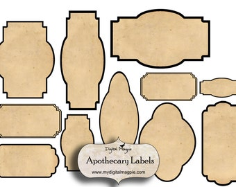 steampunk apothecary labels for jars bottles tags and etsy