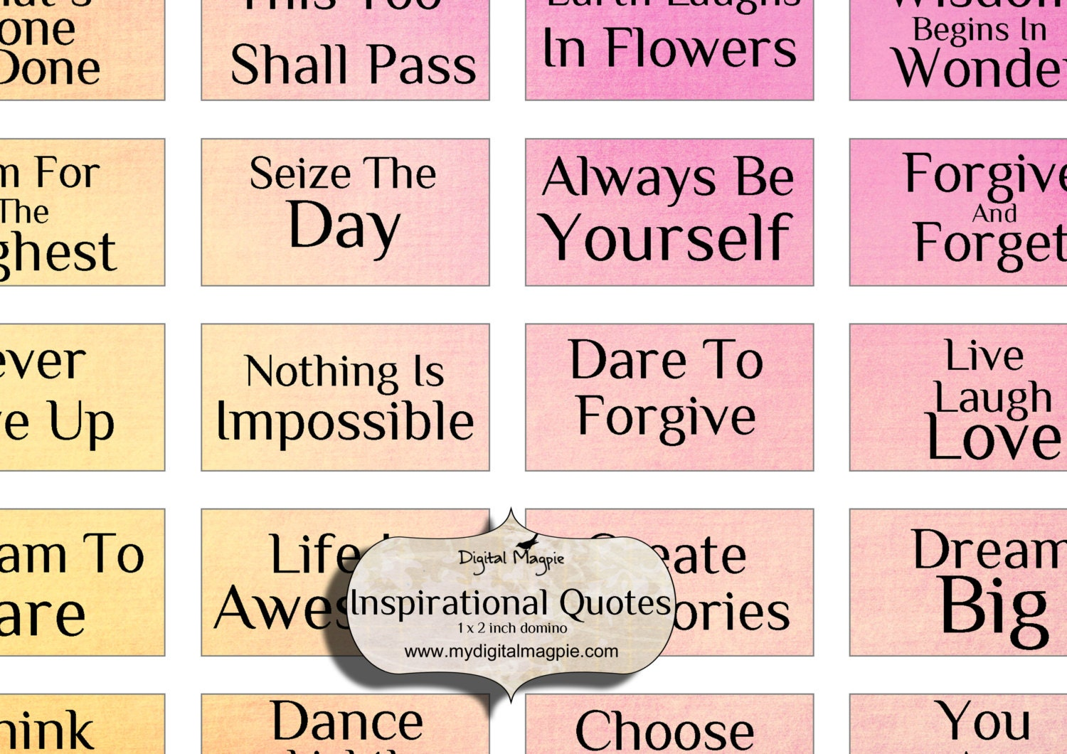 domino images inspirational words quotes digital collage | Etsy