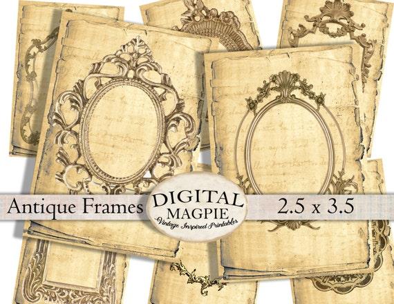 6 Cadre Vintage /& Script étiquettes-cadeaux