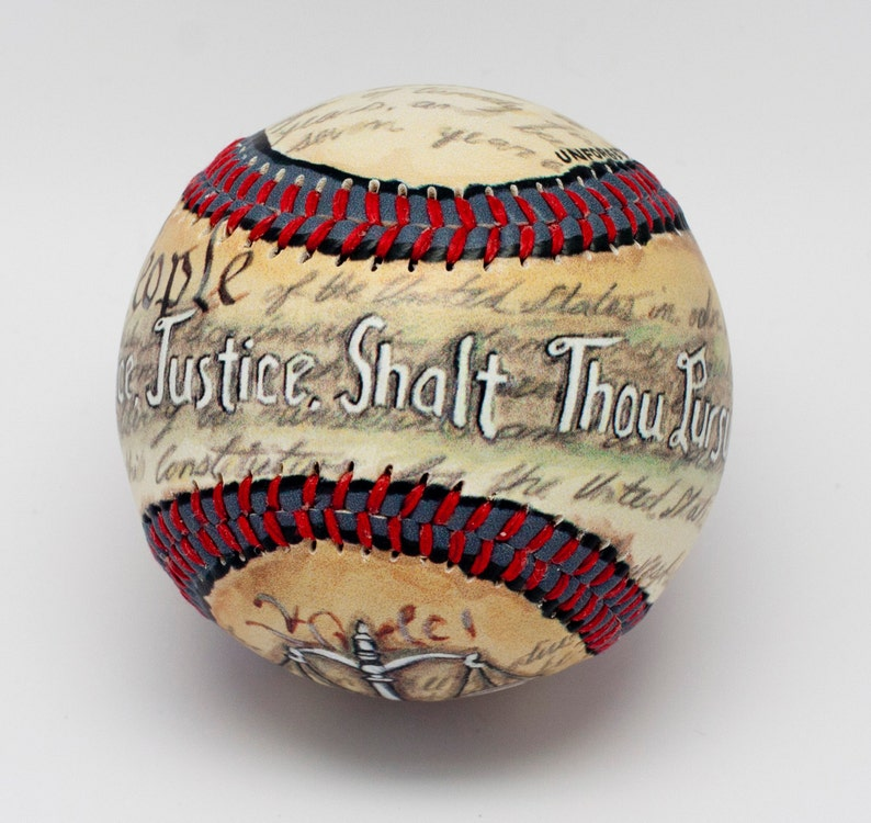 Justice Baseball Judge Baseball Lawyer Gift Lawyer image 0