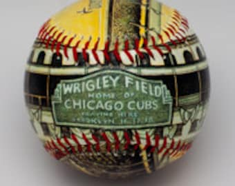 Wrigley Field Opening Day Baseball, Wrigley Fan Gift, Chicago Baseball, Chicago Cubs Gift, Baseball fan(ODS03)