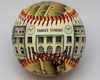 Yankee Stadium Opening Day Baseball, (ships 5/8/20)  Yankee Fan Gift, NY Baseball, NY Yankee Gift, Baseball fan(ODS01)