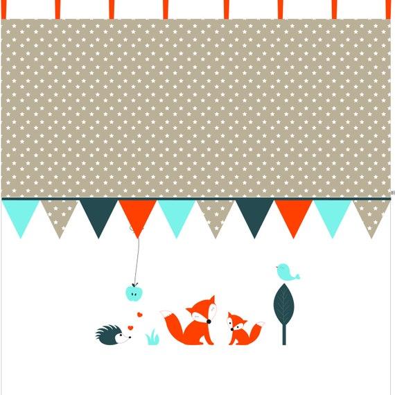 FUCHS & Co.: Kinderzimmer Vorhang / Gardine | Etsy