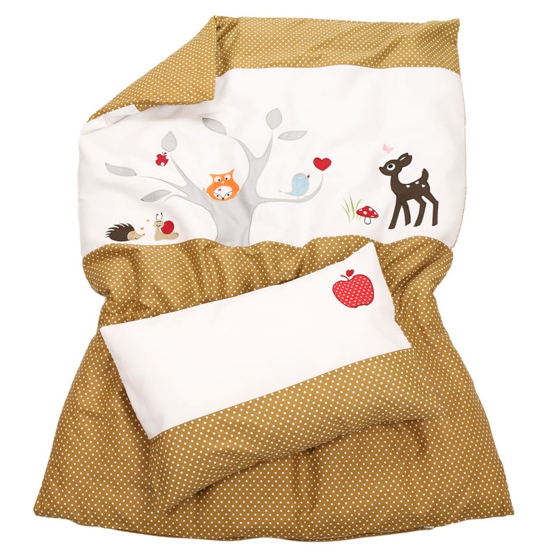 Baby Bettwäsche Eule Shuhuu Und Ihre Waldfreunde 100x135 Etsy