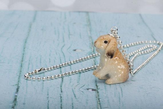Hangoor Konijn Ketting Konijn Pendant Rabbit Jewelry Etsy