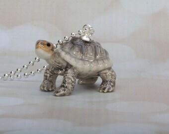 Turtoise Necklace - Pendant Necklace - Turtle Necklace -Turtoise -Jewelry -Animal Jewellery -Turtoise Pendant - Frenchtutu Handmade Necklace