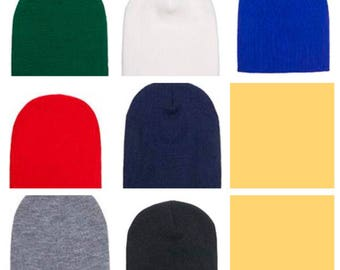 4b226a50087 Embroidered Winter beanies PICK your design