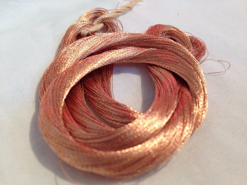 Small 24k Gold Skeins With Copper Tones Early 1920 image 0