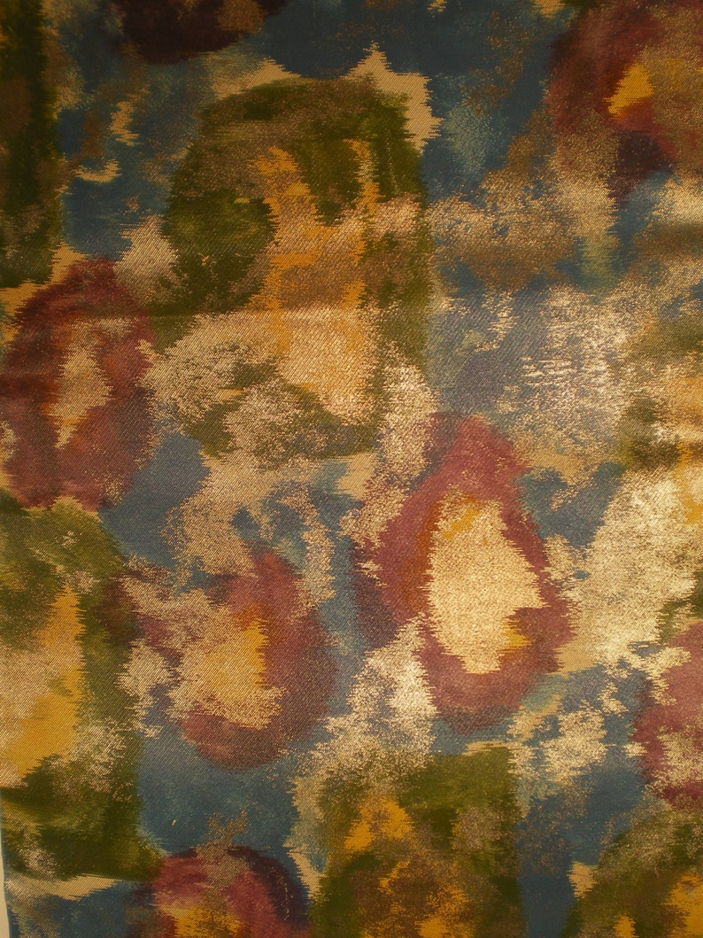 O84 Vintage Japanese Silk Abstract Colorful Watercolor