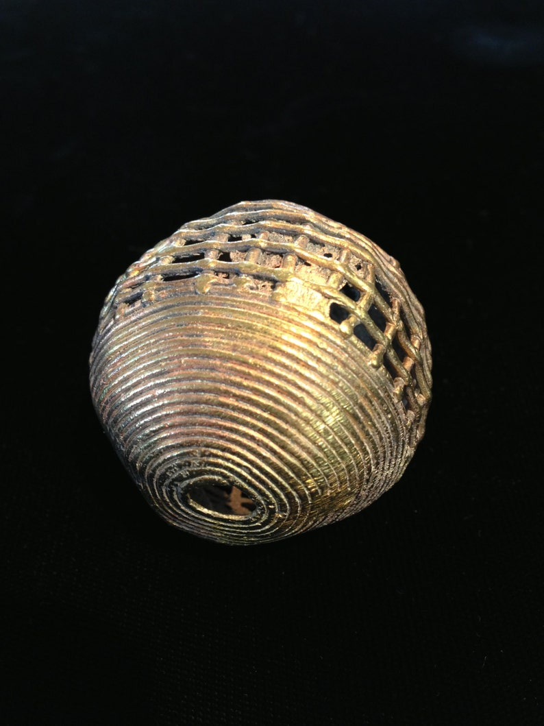 African Brass Trade Beads image 0