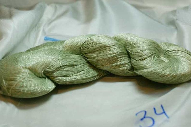 Metallic Sea Green Hand Dyed Japanese Silk Thread Circa image 0