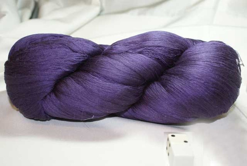 Purple Hand Dyed Japanese Silk Thread Circa 1930's image 0