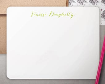 Personalized Stationery   Flat Notecards with Kraft Envelopes   Bespoke Stationary   Personalized Note Cards   SIMPLE CALLIGRAPHY