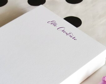 Personalized Notepad | Daily To-Do List | Name Note Pad | SIMPLE CALLIGRAPHY | Custom To Do List | Stationery Pad of Paper | Stationary