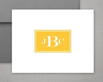 Personalized Stationery | Masculine Stationery | Monogram Notecards | Stationary Set | Folded Stationary Note Cards | MANLY MONOGRAM