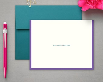 Personalized Office Supplies Gifts   Beautiful Stationary   Commercial Stationery   Cool Note Cards   Custom Notecards   MODERN BORDER