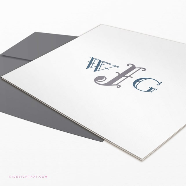 Personalized Stationery Set of 8 Monogram Notecards | Personalized Gift | Mothers Day Gift | Stationary Note Cards | MONTEREY MONOGRAM