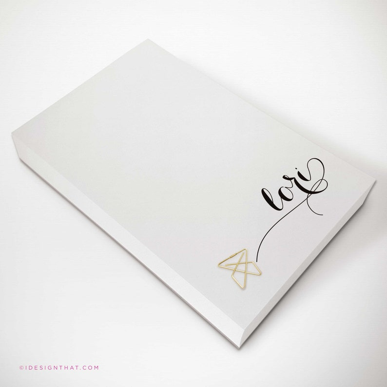 Personalized Notepad To Do List  Custom Memo Pad or Scratch image 0