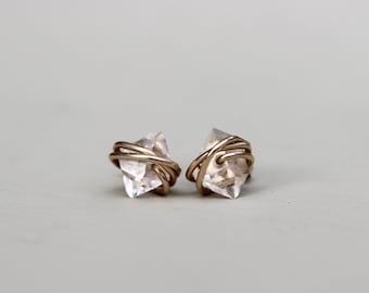 Herkimer Diamond Earrings, Herkimer Diamond Studs, Herkimer Diamond Earrings Studs, Diamond, Stud Earrings, Gift For Her, Diamond Studs