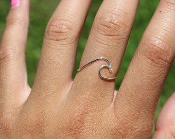 Sterling Silver Silver Wave Ring