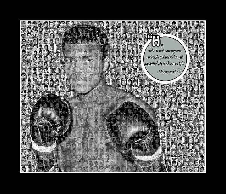 a24f0323e983b Muhammad Ali Photo Mosaic Print Art- 11x14 Matted Print