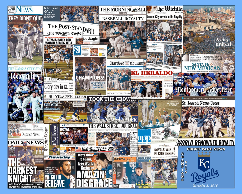 Kansas City Royals 2015 World Series Newspaper Collage Print. | Etsy