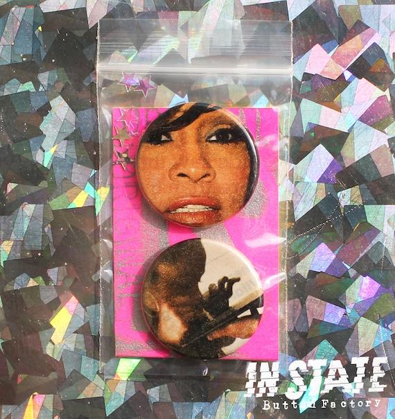 Vintage Whitney Houston /& Bobbi Kristina Brown Button Set